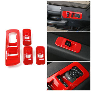 Rt Tcz Window Lift Panel Switch Trims Red For Ford F150 2015 2018 Accessories