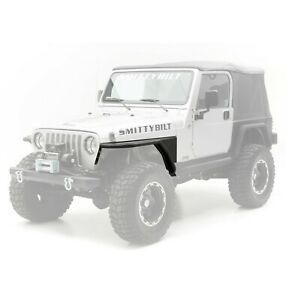 Smittybilt 76873 in Stock Front Xrc Fenders 3 Flares 97 06 Jeep Tj