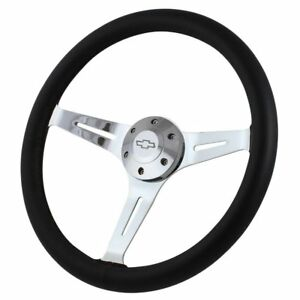15 Steering Wheel 1960 1969 Gm C K Series Trucks Chrome Black Leather