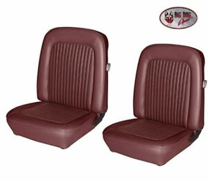 1968 Mustang Front Rear Bucket Seat Upholstery Dark Red By Tmi Ships Free