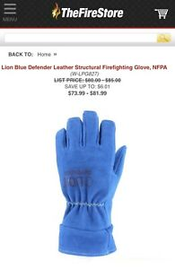 Lion Structure Firefighting Gloves Large Nfpa And Osha Approved