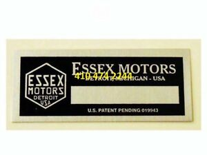 Essex Data Plate Serial Number Id Tag Vin Stamping Available