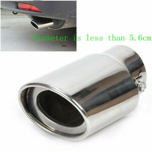2019 Universal Chrome Stainless Steel Auto Car Exhaust Pipes Tail Muffler Tips