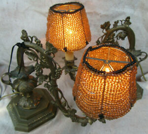 Pair Of Piano Lamps Solid Brass