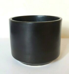 Vintage Gainey Ceramics Architectural Pottery C 6 Black Planter California Nice