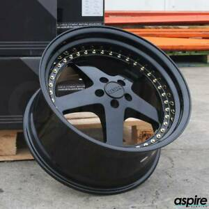 18x8 5 18x9 5 Gloss Black Wheels Esr Sr04 Sr4 5x100 30 22 set Of 4