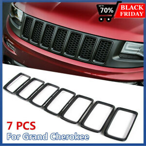 Rt tcz Front Grille Trim 7 Set Cover Insert For Jeep Grand Cherokee 2014 2016