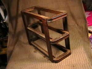 Vintage Singer Treadle Sewing Machine Table Right Side Double Drawer Frame Part