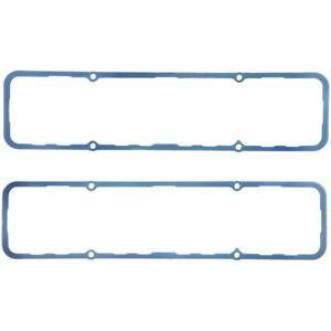 Fel pro 1628 Small Block Chevy Molded Blue Silicone Valve Cover Gasket Pair Of 2