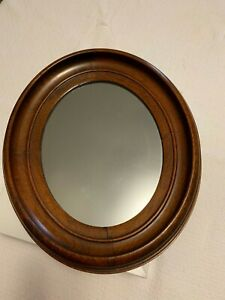 Antique Oval Walnut Frame With Mirror Victorian Overall Size 13 X 11