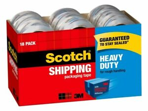 Scotch Heavy duty Shipping Packing Tape 1 7 8 X 54 6 Yd Pack Of 18 Rolls