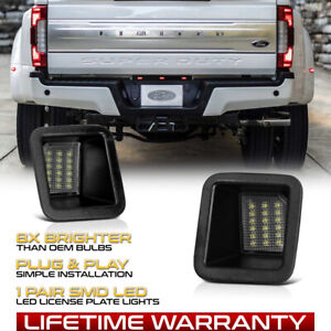 2017 2021 Ford F250 F350 F450 Pickup Bright White Led License Plate Lights Pair