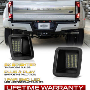 2017 2019 Ford F250 F350 F450 Pickup Bright White Led License Plate Lights Pair