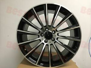 19 Staggered Black S Amg Style Rims Wheels Fits Mercedes Benz 5x112 S Class