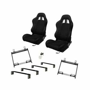 Summit Sport Seat Combo Dial Recliner Black Fabric Buick Chevy Olds Pontiac Pr