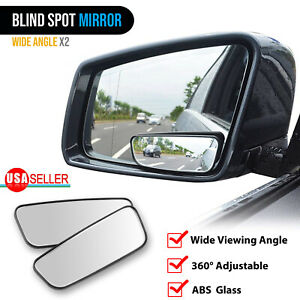 2pcs Blind Spot Mirror Auto 360 Wide Angle Convex Rear Side View Car Truck Suv