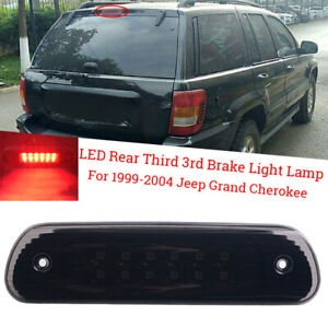 For 99 04 Jeep Grand Cherokee Rear High Mount Led 3rd Brake Cargo Tail Lights
