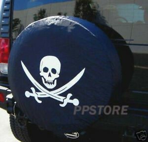15 Diy Trailer Spare Tire Tyre Wheel Cover Pirate Skull Pb15mskcl Brand New