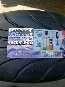 2 X Federal Rs Pro 255 35r18 Motorsports Tire 200tw