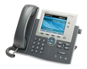 Cisco Unified Ip Voip Cp 7945g Uc Phone Sip Ip Voip Poe Gigabit Telephone Grey