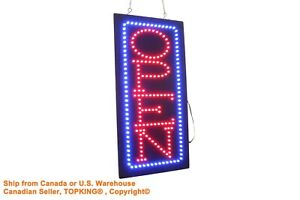 Vertical Open 19 Neon Sign Led Open Sign Store Sign Business Sign Window Sign