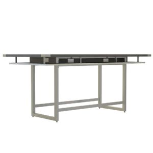 Mirella Conference Table Standing Height 8 Stone Gray