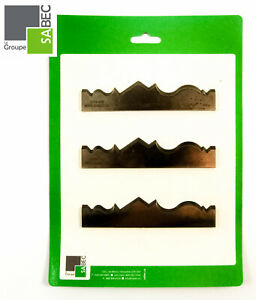 New Moulding Knives Kit Of 3 Crowns 6 0 Woodmaster Compatible 1012
