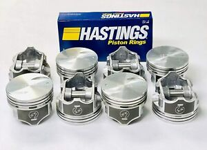 Chevy 7 4 454 Speed Pro Hypereutectic Coated Flat Top Pistons Set 8 Rings Std