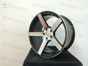 20 Staggered Black Cv3 Concave Style Rims Wheels Fits Honda Accord 350z 370z