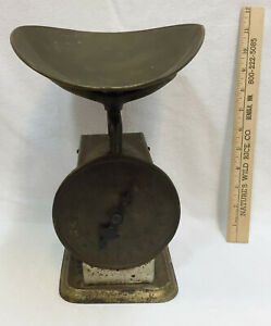 Scoop Scale Vintage Metal Counter Top General Store Farm House 6 Lbs Weighing