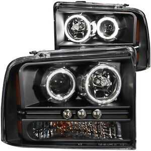 Anzo Projector Headlights Whalo 1pc Fits 2005 2007 Ford Excursion 111117