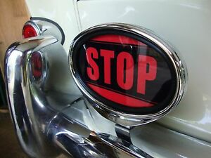 Clearance Stop Sign Illuminated Brake Light For Porsche Vw Hotrod Ford Cle198