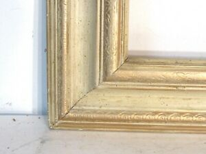 Vintage Whitewash Carved Gilt Frame For Painting 12 X 10 Inch