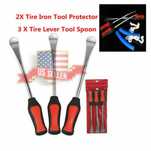 Us Tire Lever Tool Spoon Kit 2 Piece Tire Rim Protector Spoon Set Motorcycle