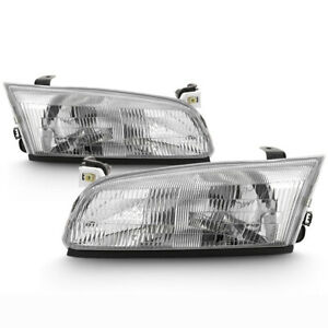 For 97 99 Toyota Camry Replacement Headlight Center Low Beam Lamp Assembly Pair