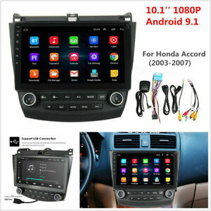 10 1 Android 9 1 Quad core Car Stereo Radio Gps Nav For Honda Accord 03 2007