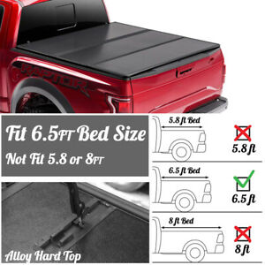 Lock Hard Tri Fold Frp Tonneau Cover For 99 06 Chevy Silverado Sierra 6 5ft Bed