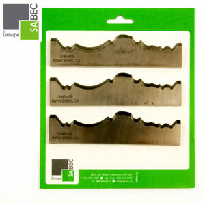 New Moulding Knives Kit Of 3 Crowns 5 5 Woodmaster Compatible 1018