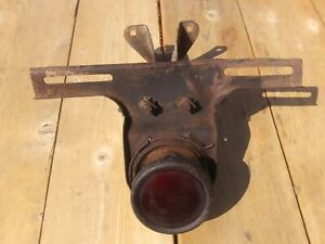 Antique Ortalon License Plate Light Bracket Tail Light Vintage Original