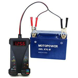 12v Digital Battery Alternator Tester 8led Display Volt Check For Car Motorcycle