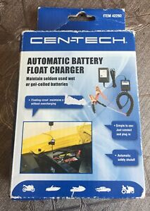 Cen Tech Automatic Battery Float Charger Car Truck Motorcycle Atv Snowmobile