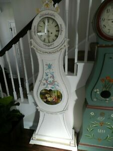Antique Painted Swedish Mora Clock