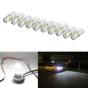 10pcs White 3157 3156 3057 3056 4157 15smd 5730 Led Bulbs For Brake Tail Light
