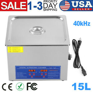 15l Ultrasonic Cleaner Stainless Steel Industry Heated Heater Machine With Timer