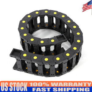 Black Energy Chain Drag Cable Towline Carrier Wire Reinforced Nylon Pa66 25x77mm