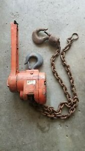 Cm 1 1 2 Ton Lift Puller Chain Lever Hoist Come Along