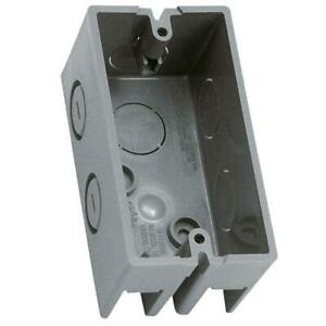 Electrical Non metallic Handy Box Pvc 1 gang Switch Outlet Enclosure Case Of 36