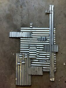 Large Corrugated Reclaimed Metal Roofing Tin Art Work Modern Industrial Farm