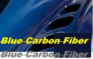19x797 Carbon Fiber Blue Water Transfer Printing Film hydrographic Ups Shipping