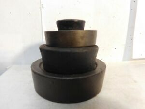Antique Set 4 Stackable Cast Iron Scale Weights Country Store Mercantile Trades